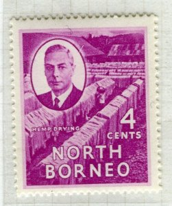 NORTH BORNEO; 1950 early GVI issue fine Mint hinged 4c. value