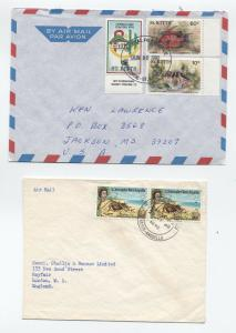 Group of 5 St. Kitts/Nevis  covers 1940s-90s [L.295]