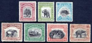 NORTH BORNEO — SCOTT 167//174 (SG 277//284) — 1926 PICTORIALS — MH — SCV $25.60