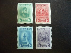 Stamps - Cuba - Scott# 410-413 - Mint Hinged Set of 4 Stamps