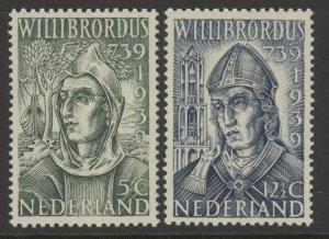 Netherlands 212 & 213 complete set - mnh Willibrordus 739 1939