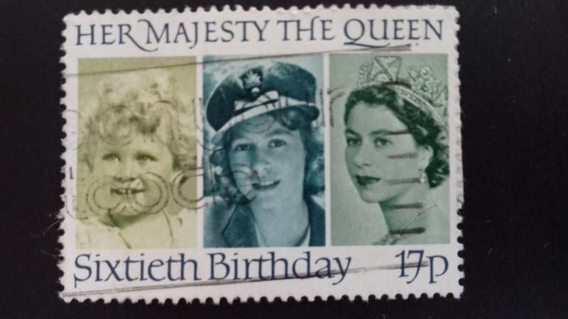 Great Britain 1986 60th Anniversary of Birth of Queen Elizabeth II  Used