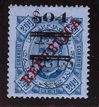 Cape Verde Scott 204 MH* Surcharged stamp  1922 perf 13.5