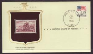 US Lewis and Clark Historic Stamp Cover BIN