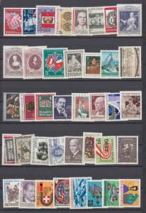J29524, various 1980-1 austria mnh stamps lot  all different #1143//1181