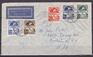 Indonesia, Scott cat. B58-B62. Asiatic Olympics issue. Mailed First day cover. ^