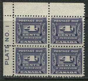 Canada 1933 4 cents Plate Block of 4 unmounted mint NH