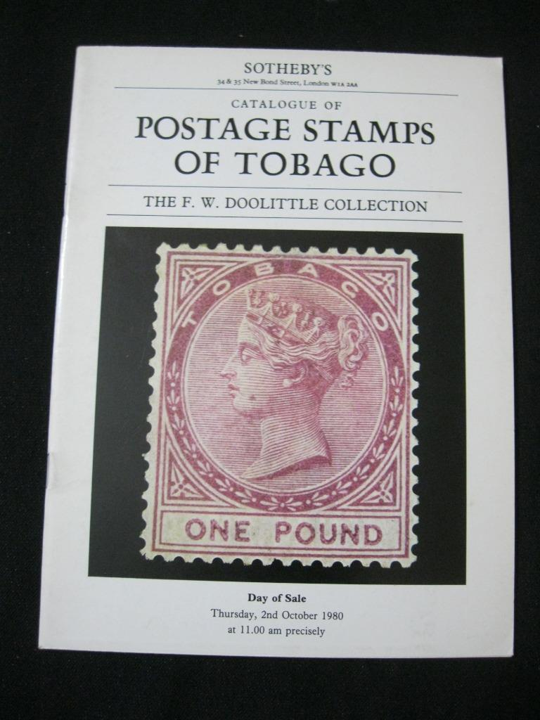 SOTHEBY'S AUCTION CATALOGUE THE POSTAGE STAMPS OF TOBAGO