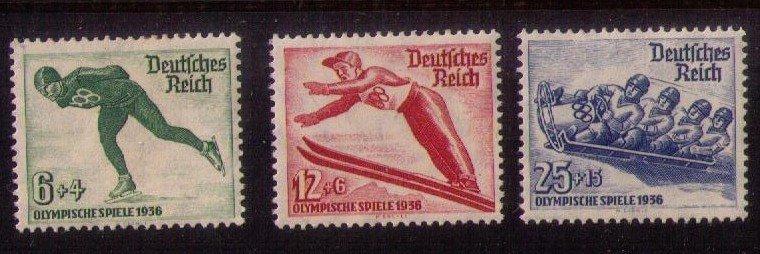 MLH Germany b79-b81 Set Winter Olympic Games 1936 VF