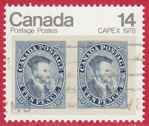 Canada - 1978 - Scott #754 - used - Stamp on Stamp CAPEX '78