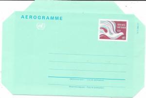 UN-Vienna  #UC1 Aerogramme   (MNH)  CV $4.25