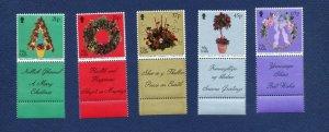 ISLE of MAN - 935-939 - VF MNH - Christmas, Flowers - 2001