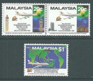 MALAYSIA 1989 Malaysian Airlines set MNH...................................64183