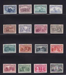 230P4 - 245P4 XF Complete set of Plate proofs on card cv $ 2200 ! see pic !