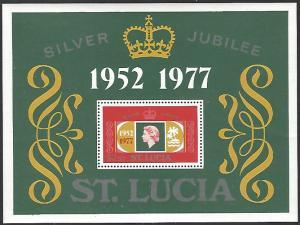 St Lucia #418 MNH Souvenir Sheet