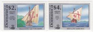Dominica, Sc 1302-1303, MNH, 1991, Ships