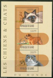 GUINEA 2013 DOGS AND CATS  SHEET MINT NH