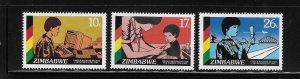 Zimbabwe 1985 UN Decade of Women Sc 519-521 MNH A1545