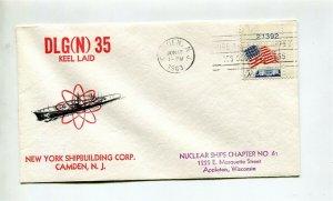 USS TRUXTUN before naming (DLG-35) Naval Cover - Fleet Post Office