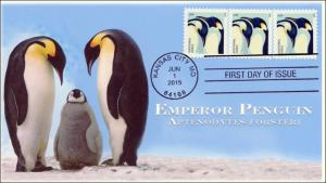 SC 4989, 2015, Emperor Penguins, FDC, BW 15-157
