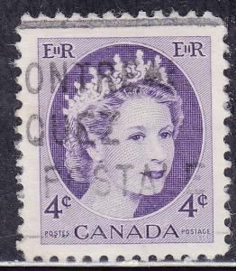 Canada 340 Queen Elizabeth II, Wilding Portrait 1954