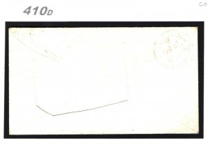 GB Wales Rare RED-BROWN NUMERAL SG.29 Cover *529* Milford-Haven 1856 Pembs 410d