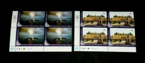 U.N. NEW YORK #1026-1027, 2011, WORLD HERITAGE NORDIC, MNH, INSC. BLKS/4, LQQK!