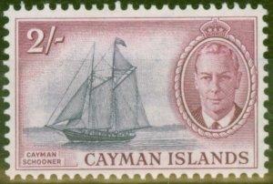 Cayman Islands 1950 2s Violet & Reddish Purple SG145 V.F Lightly Mtd Mint