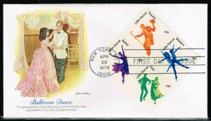 USA 1749 -1752   American Dance - Fleetwood  FDC Cachets 5 Covers $9.95