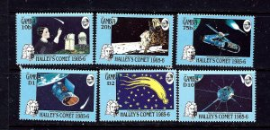 Gambia 604-09 MNH 1986 Halleys Comet