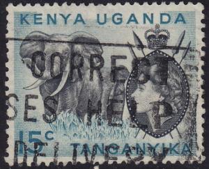 Kenya KUT - 1958 - Scott #105 - used - Elephants