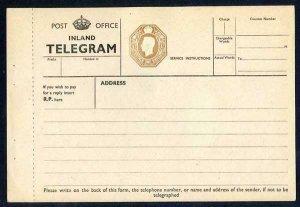 TP28 KGVI 1/- Post Office Telegram Form