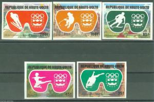 UPPER VOLTA INNSBRUCK OLYMPICS '76 IMPERFORATED SET SC#384/86 C225/26  MINT