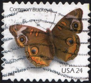 SC#4001 24¢ Common Buckeye Single (2006) Used