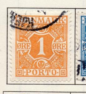 Denmark 1921 Postage Due Early Issue Fine Used 1ore. 221137