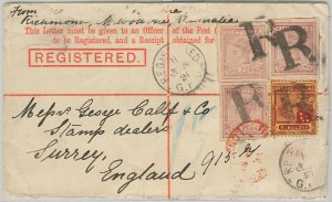52283  VICTORIA -  POSTAL STATIONERY COVER  - H & G  #7 with CARD CUT-OUTS 1897