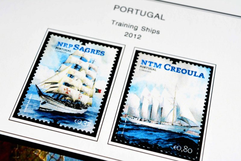 COLOR PRINTED PORTUGAL 2011-2014 STAMP ALBUM PAGES (71 illustrated pages)