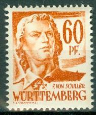 Germany - French Occupation - Wurttemberg - Scott 8N10 (SP)