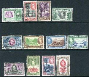 BRITISH HONDURAS-1938-47  A fine used set to $5 Sg 150-161