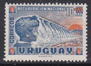 Uruguay #B6 single F-VF Mint NH ** National Recovery, Dam