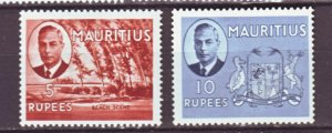 J22163 Jlstamps 1950 mauritius hv,s of set mh #248-9 king