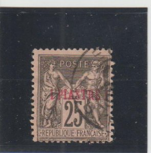 French Offices in Turkey (Levant)  Scott#  2  Used  (1886 Surcharged)