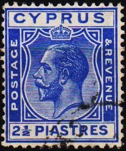 Cyprus. 1924  2 1/2pi S.G.122 Fine Used