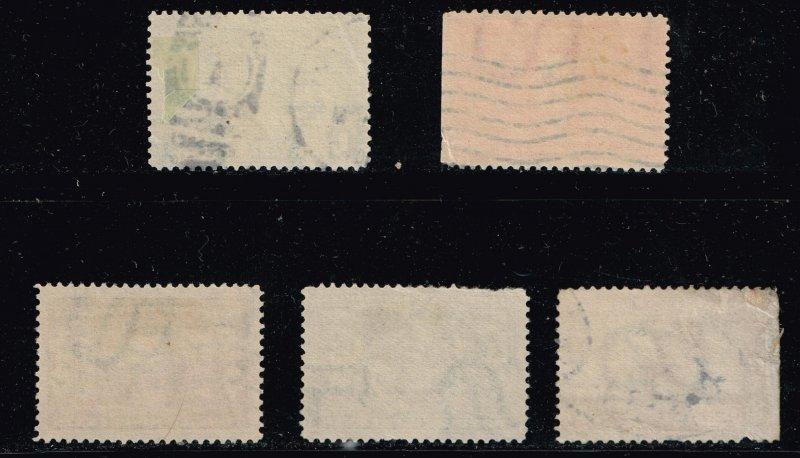 US STAMP #323-327 1904 1-10c Louisiana Commemorative: Louisiana Purchase crease