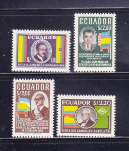 Ecuador 638-641 Set MNH Politicians