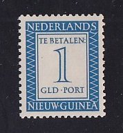 Netherlands New Guinea   #J6   MH   1957  Postage due  1 g