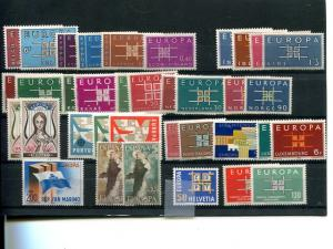 Europa CEPT  1963 complete VF NH  - Lakeshore Philatelicsgood lot
