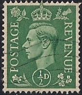 Great Britain #258 1/2P King George 6, used EGRADED VF 81