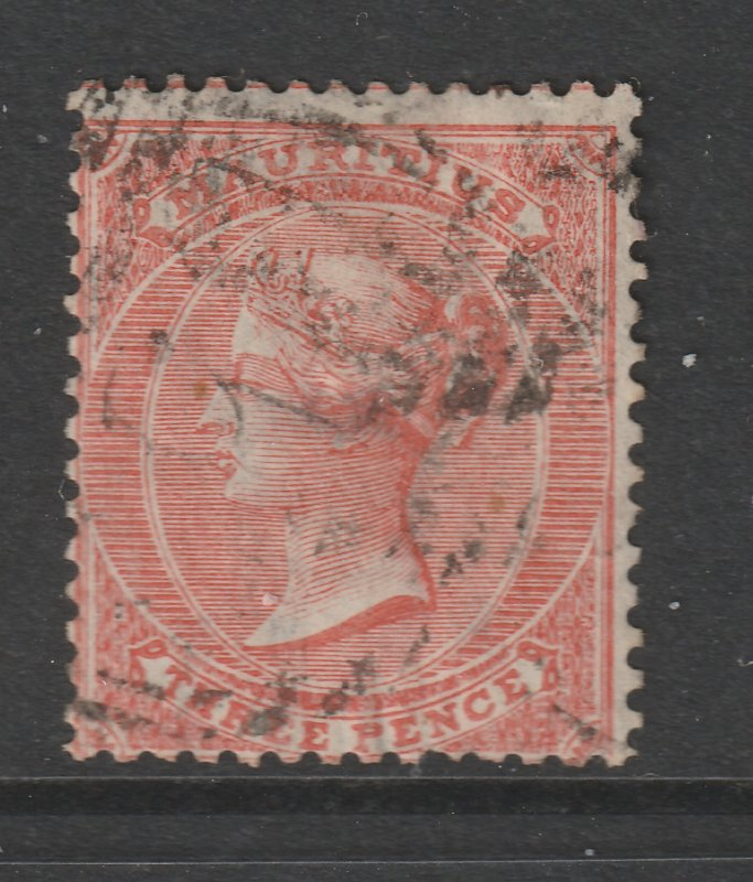 Mauritius a used QV 10d from 1863