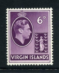 Virgin Islands 1938 KGVI 6d chalk paper SG 116 mint